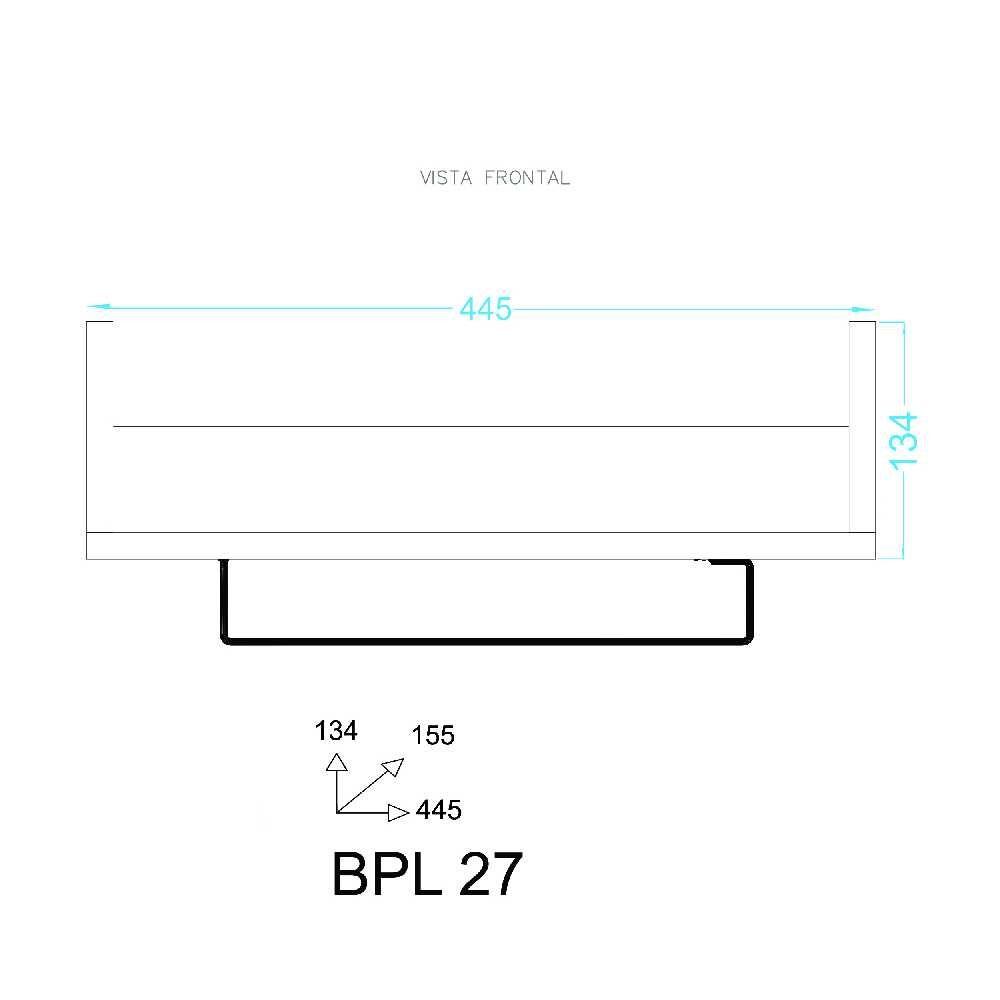 Prateleira Decorativa com suporte Taças BPL 27 BRV Móveis