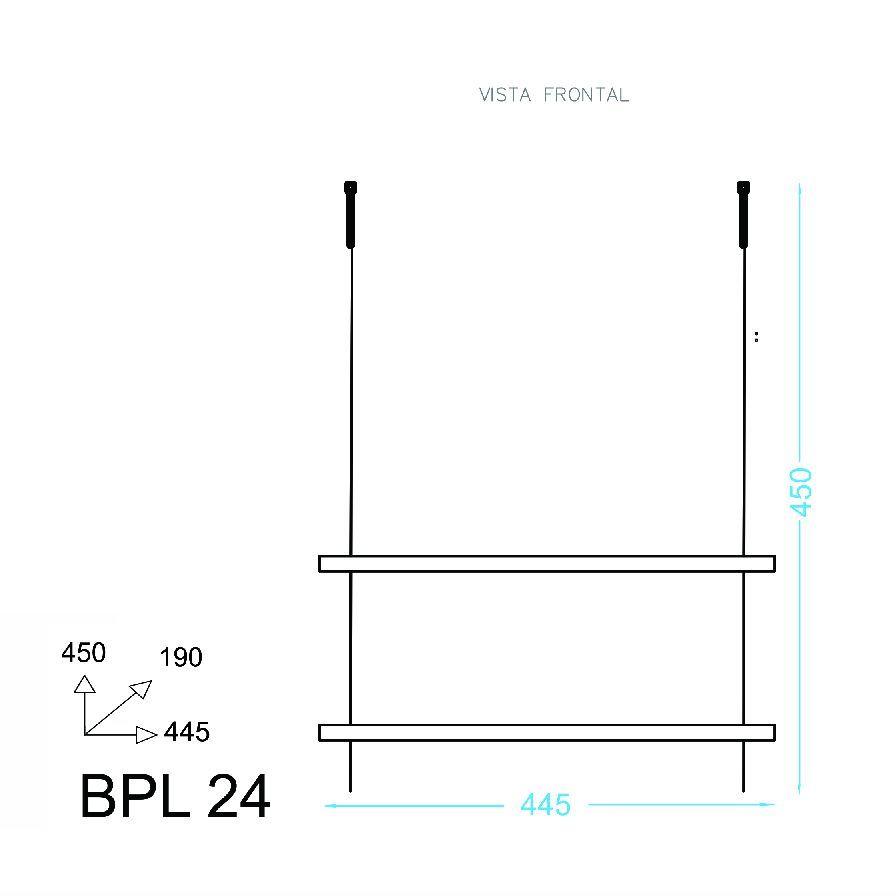 Prateleira Decorativa Suspensa Dupla com Cordas BPL 24 BRV Móveis