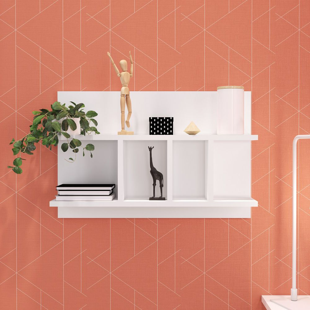 Prateleira multiuso 61x40cm para sala de estar Modern Office EST-P011 Estilare