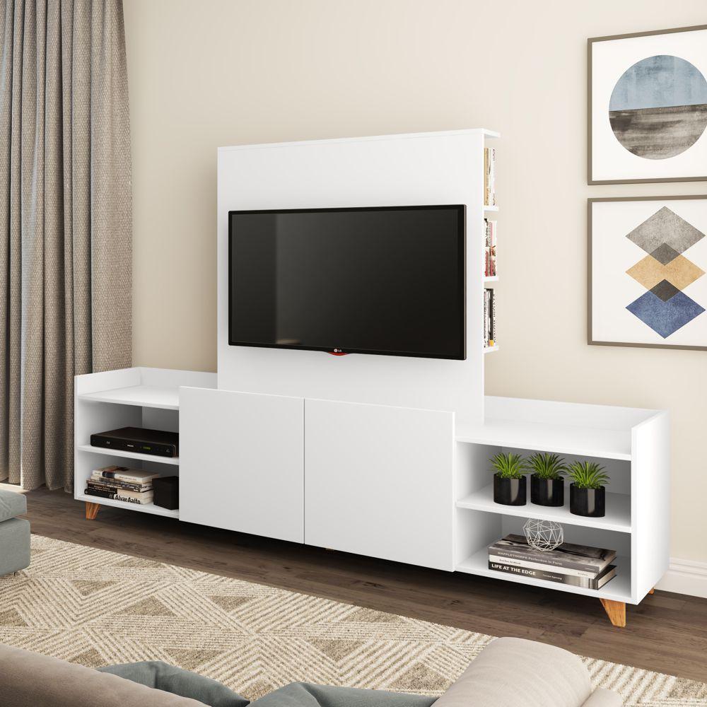 Rack com painel de TV e estante 180cm 9001 Aurora BE Mobiliário