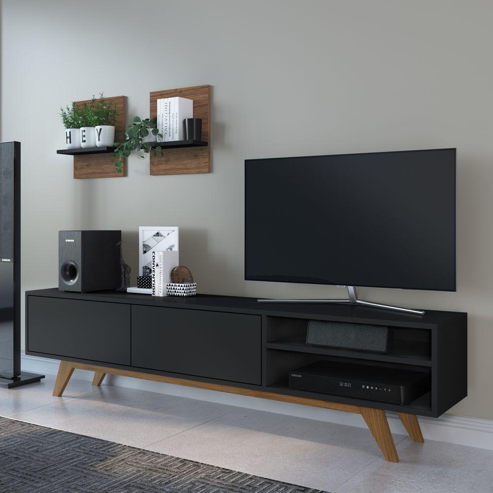 Rack para TV 1,60m BR105 + Prateleira Multiuso 30cm BR120 COMBR105 Estilare