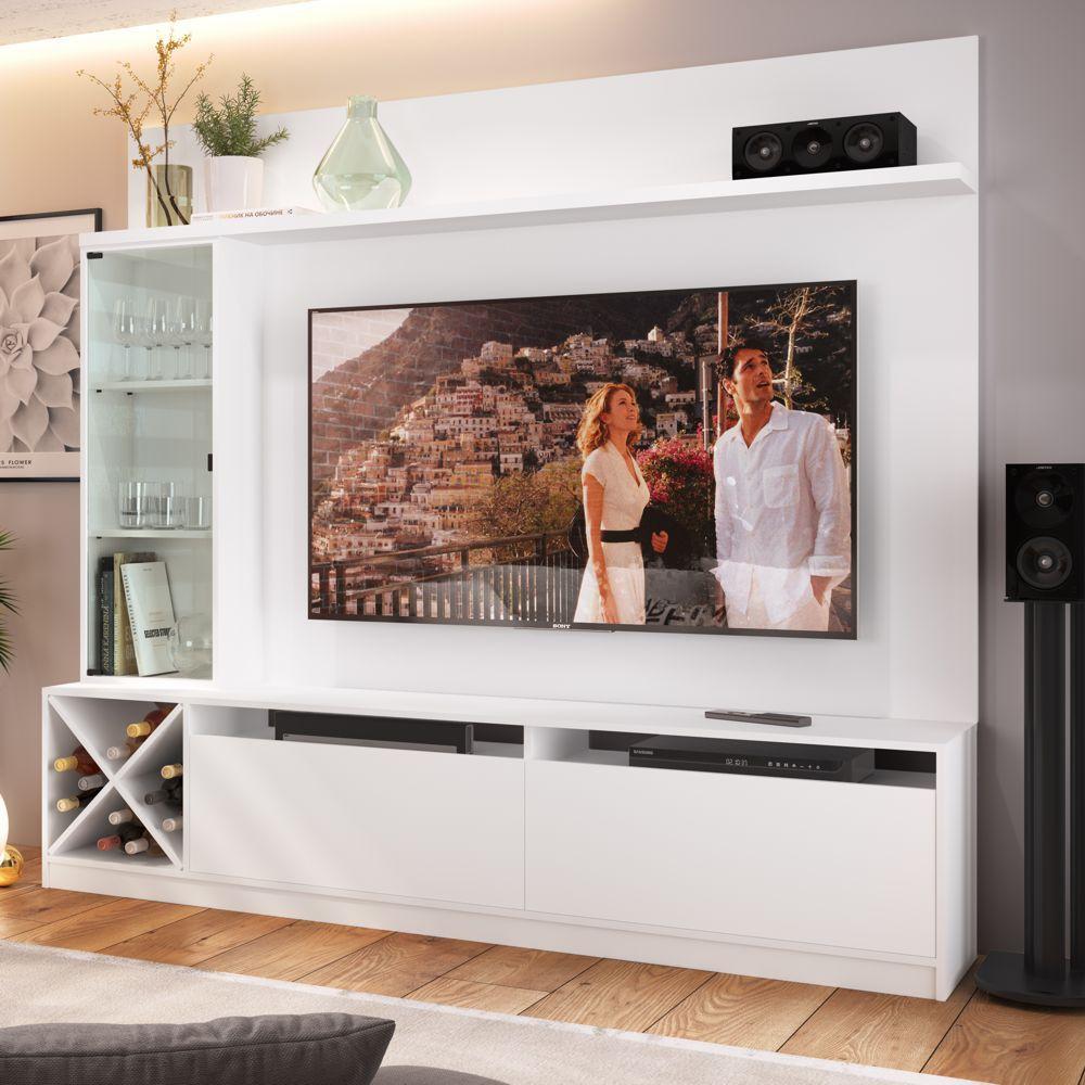 Rack para TV 1,60m com Painel, Cristaleira e Adega 2021 Quiditá