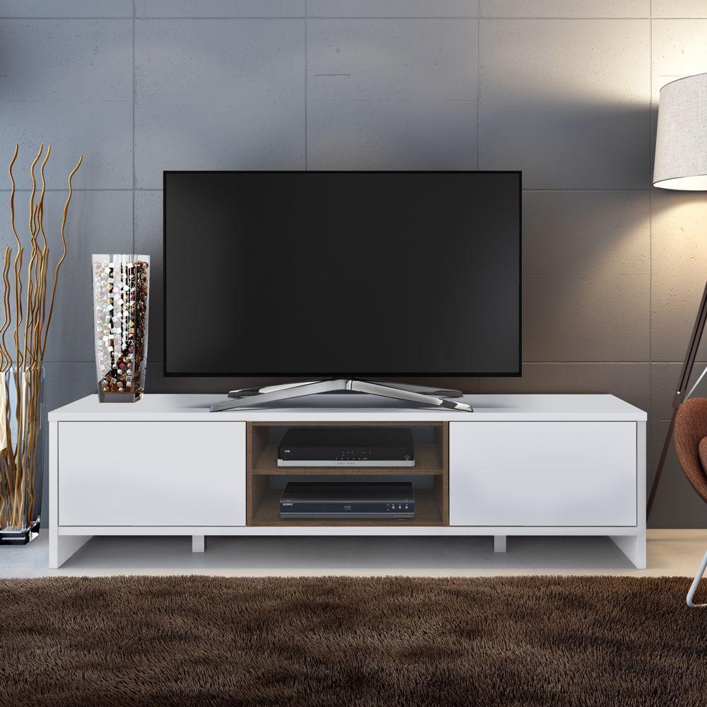 Rack para TV 1,80m 2 Portas Metz 6914 Madesa