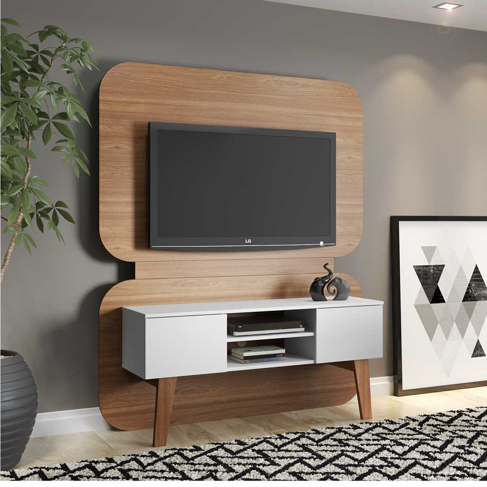 Rack Retrô com Painel de TV 136cm 12053 Trend Artesano