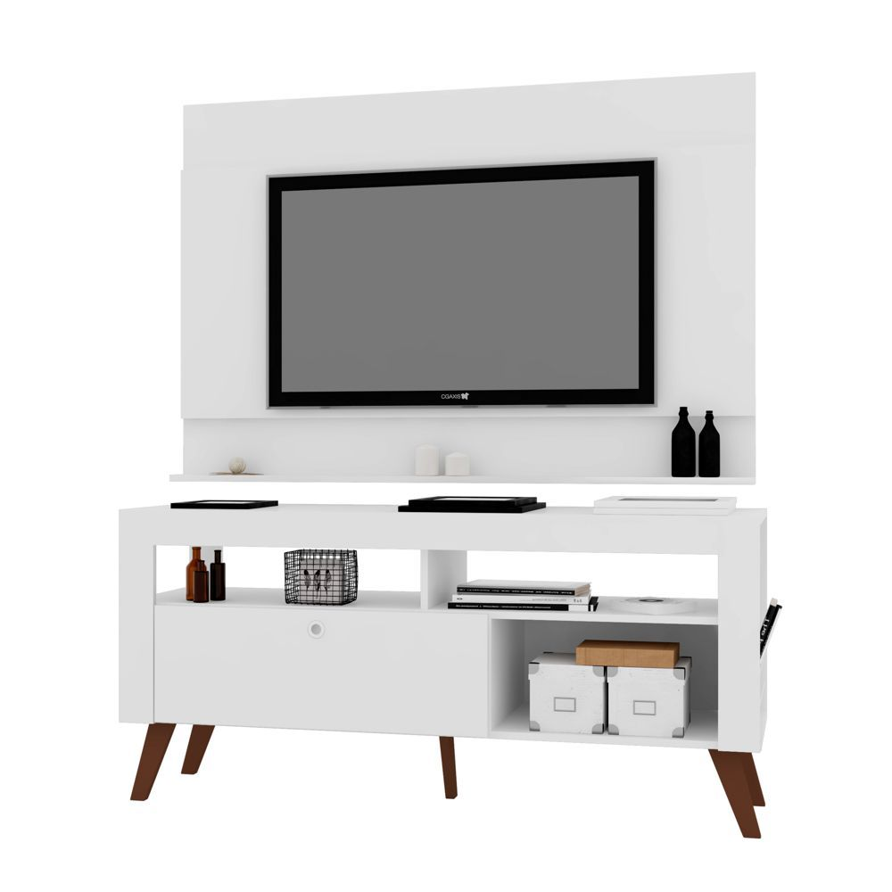 Rack Retrô com Painel para TV 1,40m CJ022 Art in Móveis