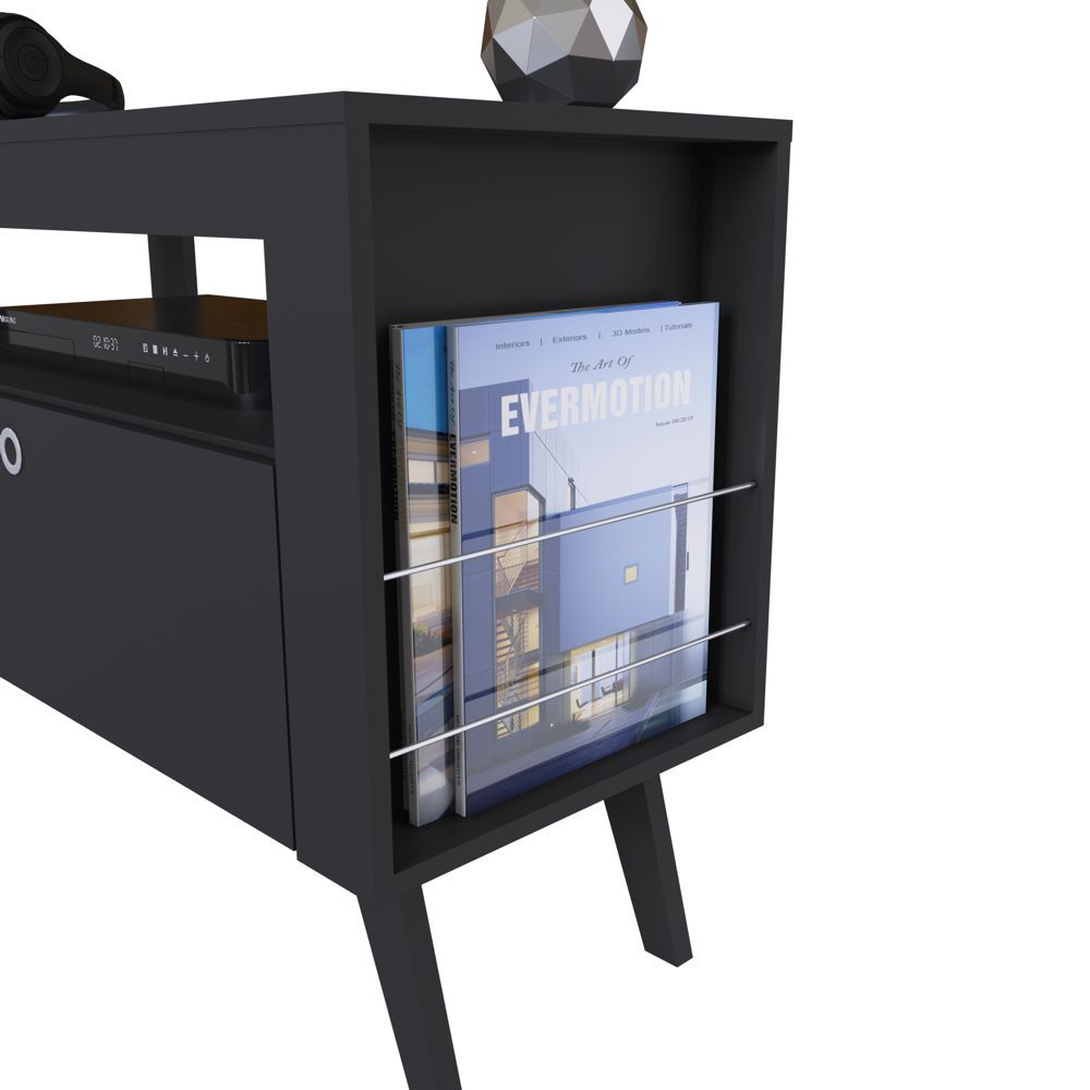 Rack Retrô com Painel para TV 1,40m Dinamarca CJ022 Art in Móveis