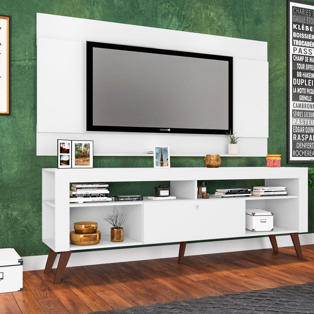 Rack Retrô com Painel para TV 1,80m CJ023 Art in Móveis