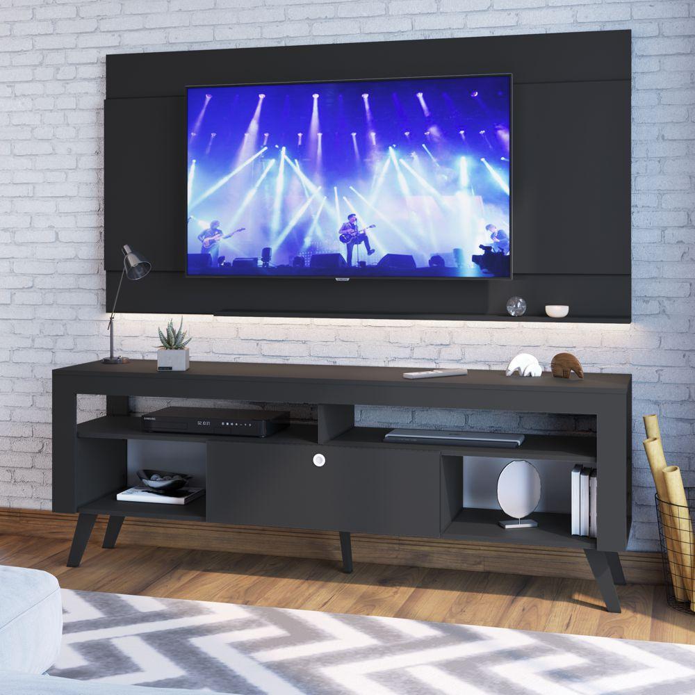 Rack Retrô com Painel para TV 1,80m Itália CJ023 Art in Móveis