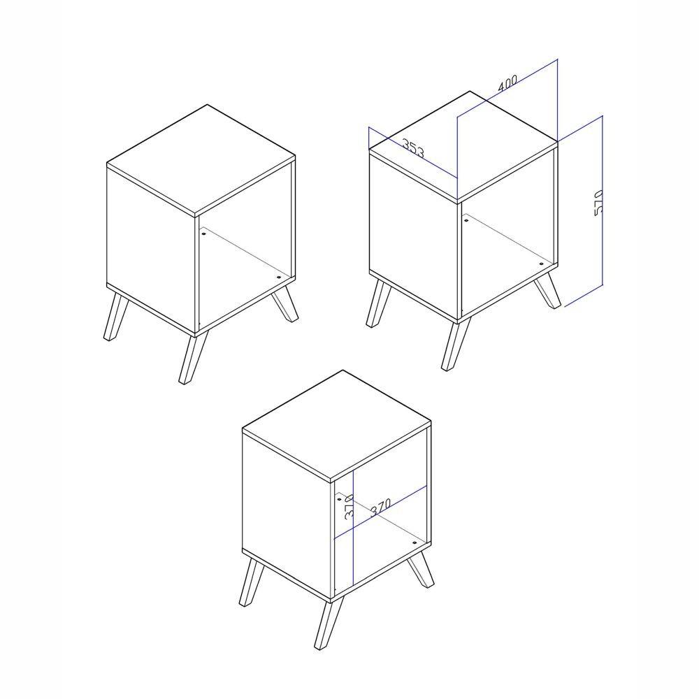 Mini Aparador Cubo Retrô 40cm RT 3013 Movelbento