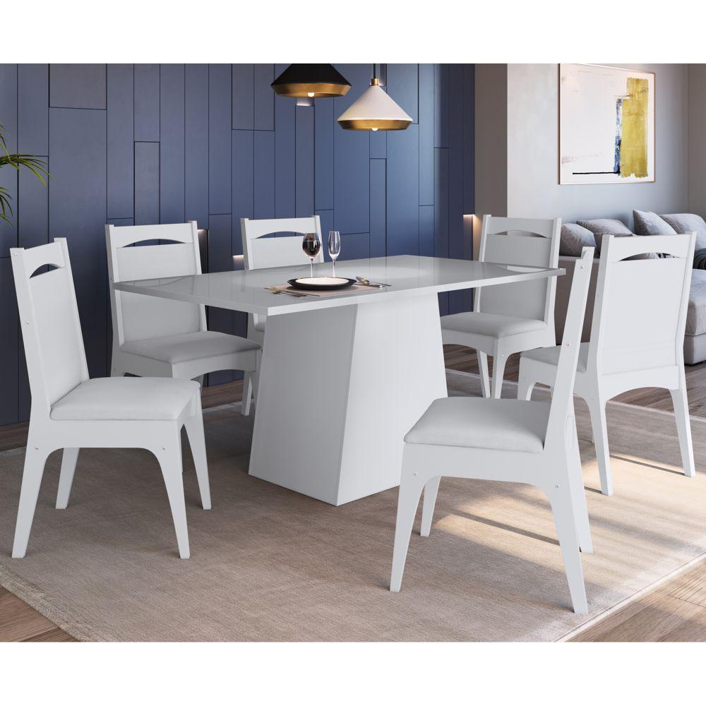 Sala de Jantar completa Conjuto de Mesa com 6 cadeiras 11600-917 Canção