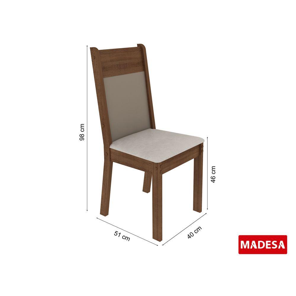 Sala de Jantar Marina Conjunto de Mesa com 4 Cadeiras 4590 Madesa