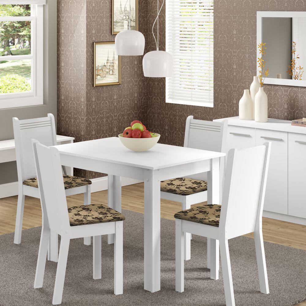Sala de Jantar Rute Conjunto de Mesa com 4 Cadeiras 4508/4491 Madesa