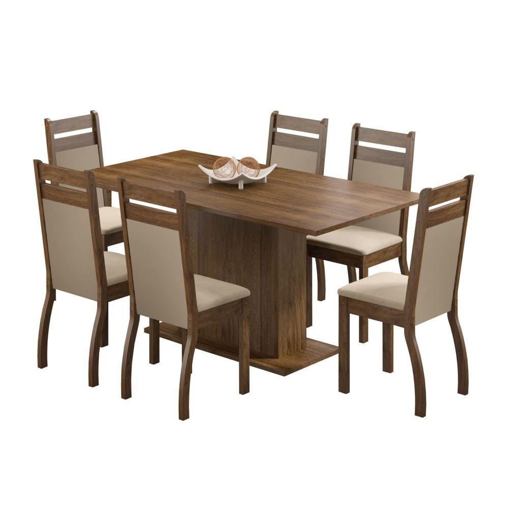 Sala de Jantar Versalhes Conjunto de Mesa com 6 Cadeiras 4406 Madesa