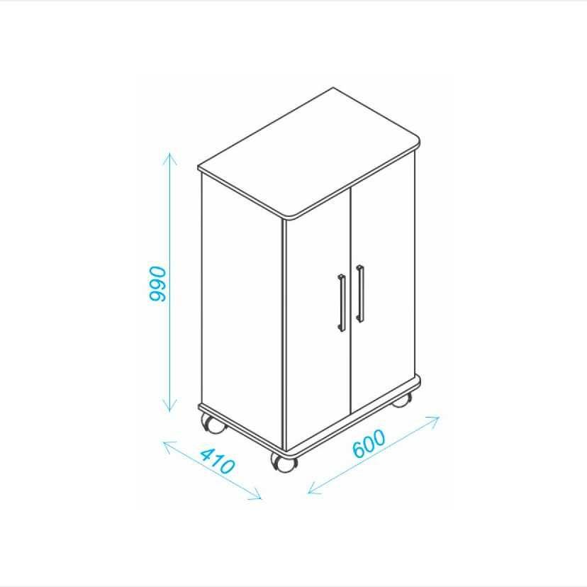 Sapateira 2 Portas 18 pares 60cm BST 08 BRV Móveis