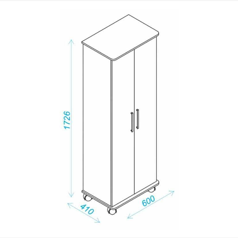 Sapateira 2 Portas 30 pares 60cm BST 07 BRV Móveis