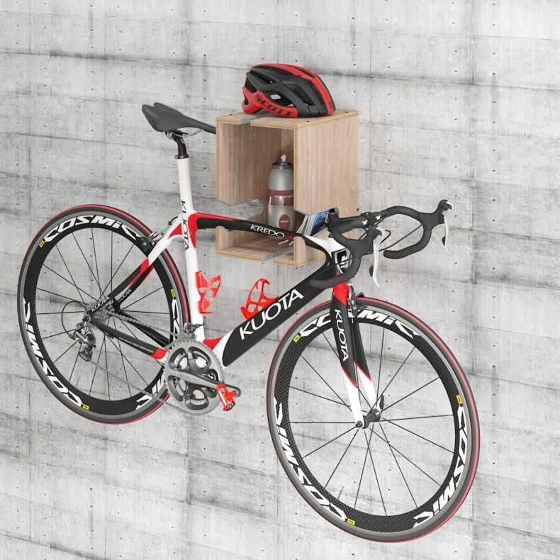 Suporte Bike Nicho Multifuncional Compensado Naval Easy BE Móveis