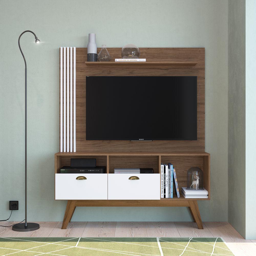 Rack Painel Estante 1,34m Para TV 50 '' Music Home04 Estilare