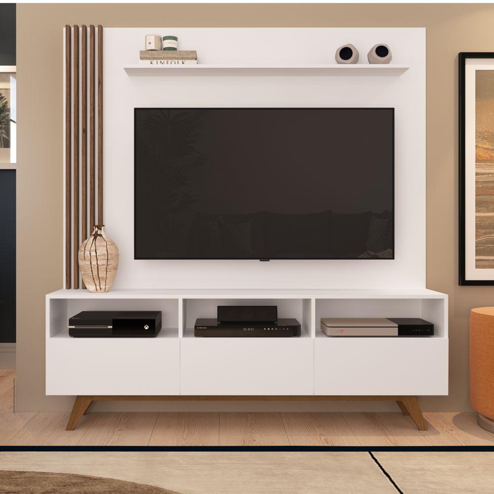Rack Painel Estante 1,60m Para TV 50 '' Kiss Home05 Estilare