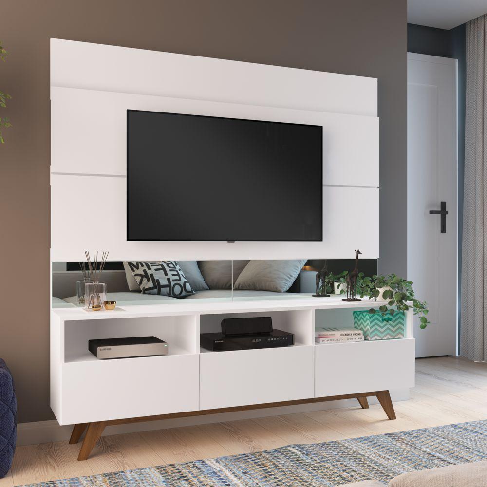 Rack Painel Estante 1,60m Para TV 50 '' Dance Home06 Estilare