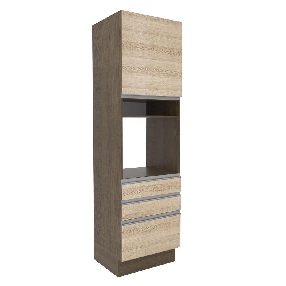 Torre Forno 60cm 1 Porta 3 gavetas G26655 Glamy Madesa