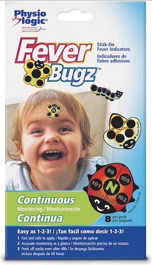 Adesivos para Monitorar a Temperatura Fever Bugz