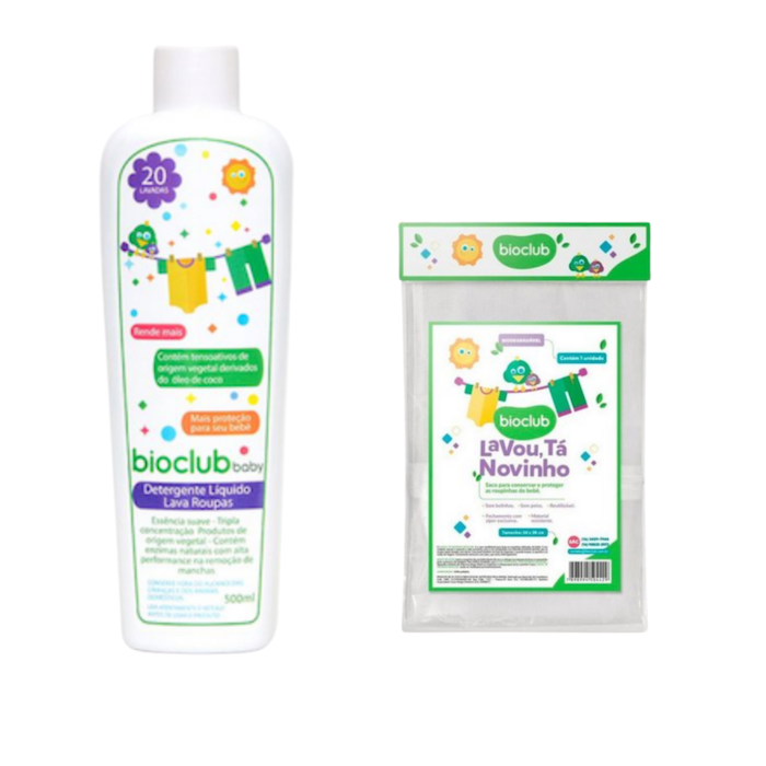 Bioclub Baby Kit Lava Roupas e Saco para Lavagem