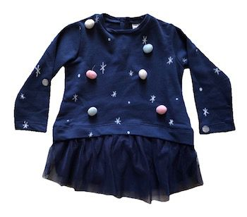 Blusa com Saia em Tule e Pompons Zara