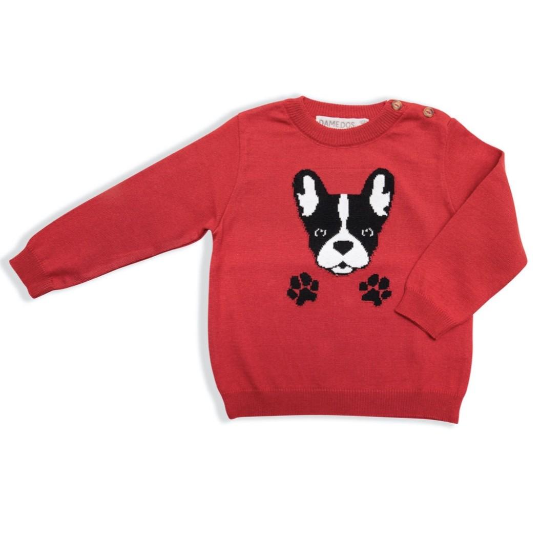 Blusa de Tricô Bulldog Dame Dos