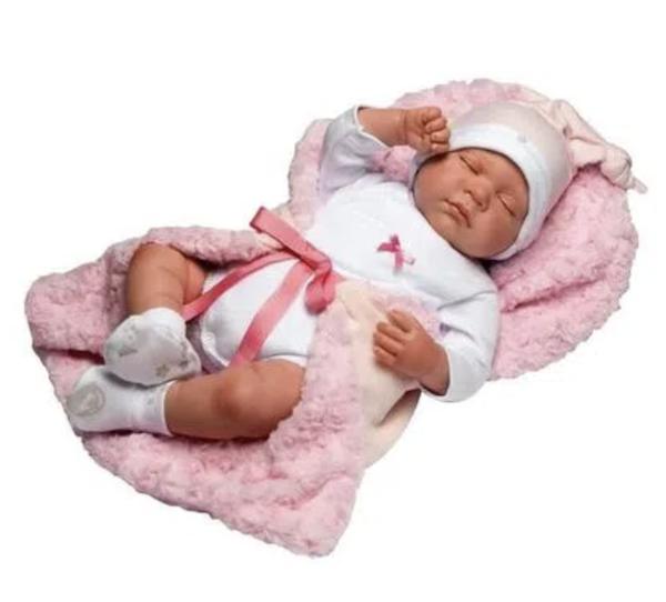 Boneca Bebê Reborn Olhos Abertos Baby Brink