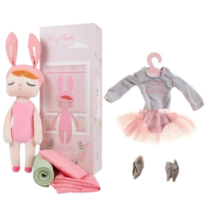 Boneca Metoo Fashion com Caixa kit com Roupa Bailarina