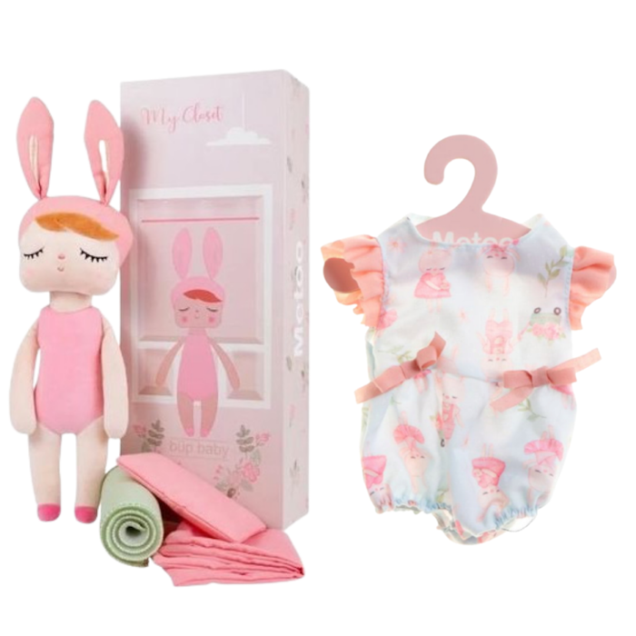 Boneca Metoo Fashion com Caixa kit com Roupa Brincadeira