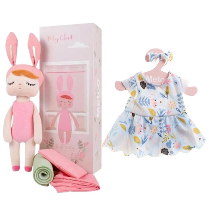 Boneca Metoo Fashion com Caixa kit com Roupa Festa