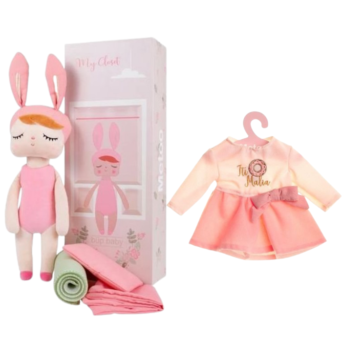 Boneca Metoo Fashion com Caixa kit com Roupa It Malia