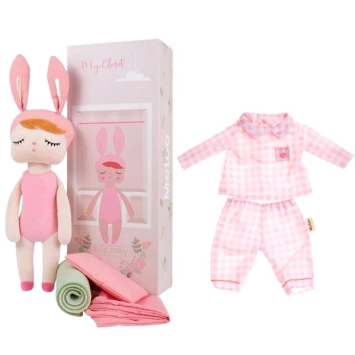 Boneca Metoo Fashion com Caixa kit com Roupa Pijama