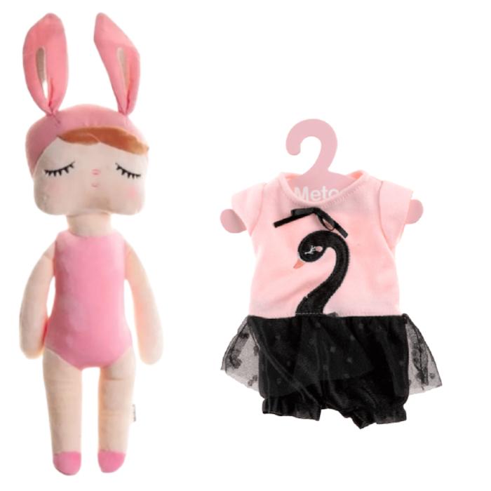 Boneca Metoo Fashion Kit com Roupa Cisne Negro