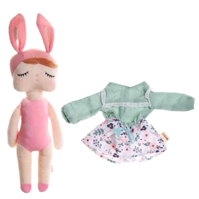 Boneca Metoo Fashion Kit com Roupa Saia e Blusa Floral