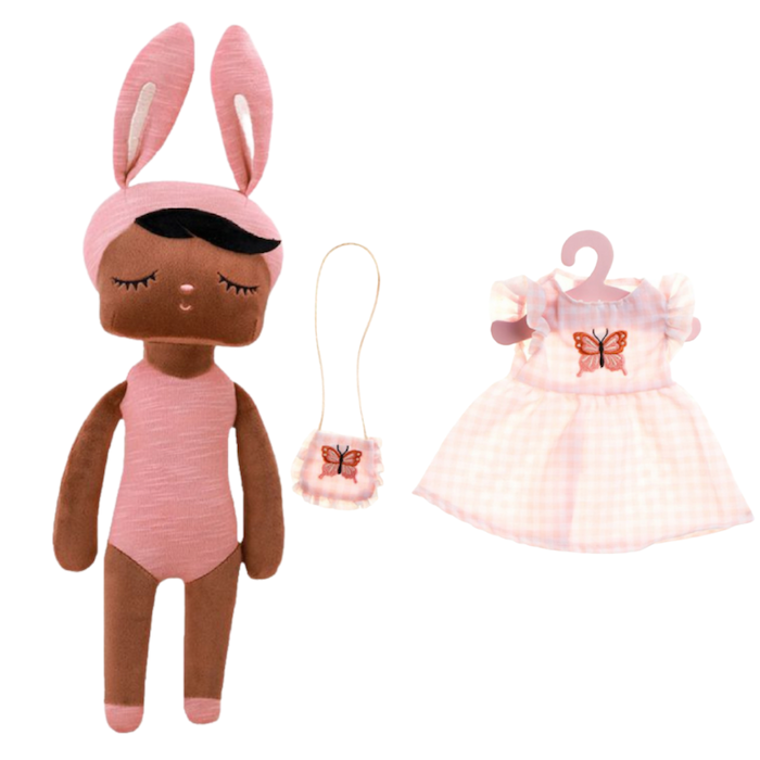 Boneca Metoo Fashion Negra Kit c/ Roupa It Malia