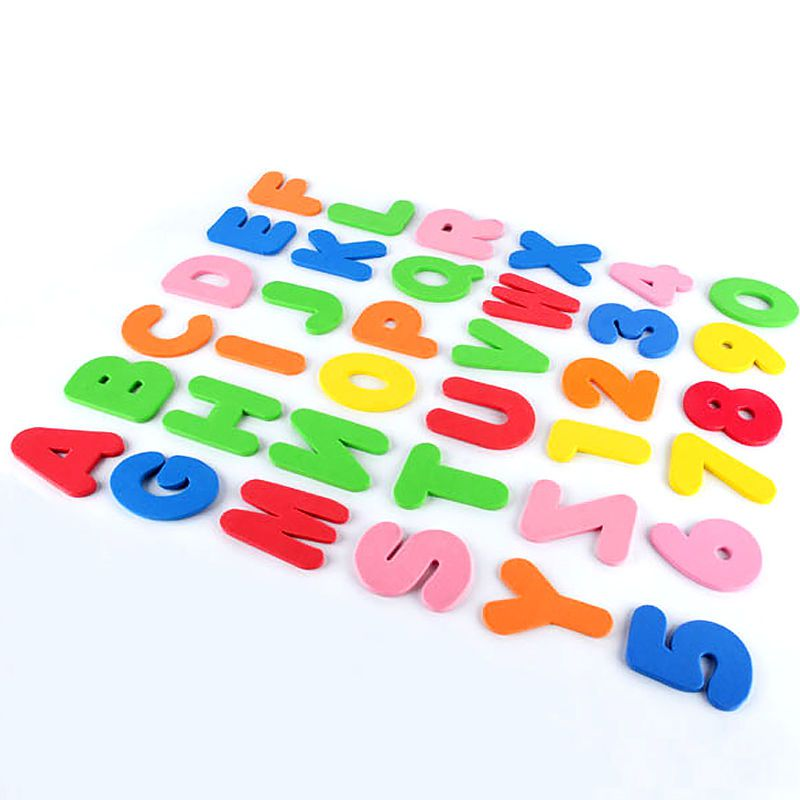 Brinquedo Baby Letras Números de Espuma Flutuante Banho 12M+