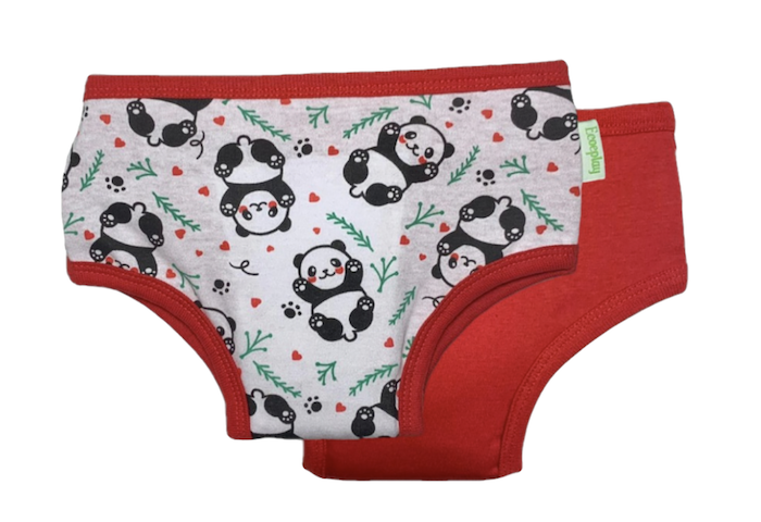 Calcinhas de Treinamento para Desfralde Ecoeplay Panda Vermelho