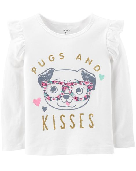 Camiseta Pugs and Kisses Carter's