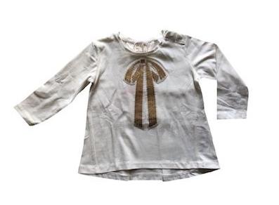 Camiseta Bordada com Paetê Zara Off-White