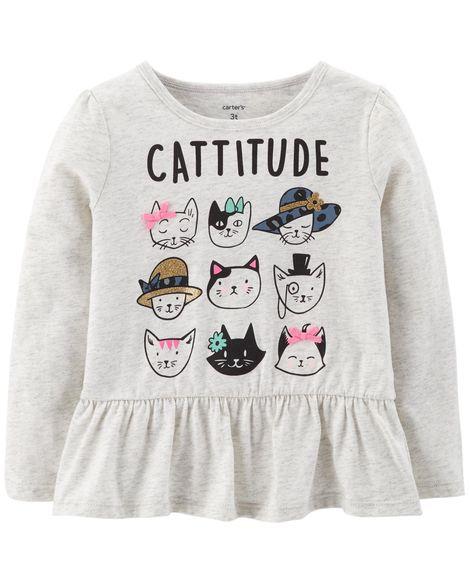 Camiseta Cattitude Carter's