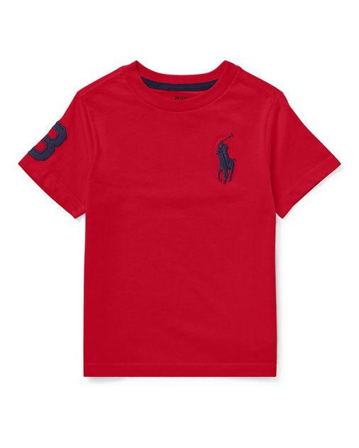 Camiseta Vermelha com Bordado Ralph Lauren