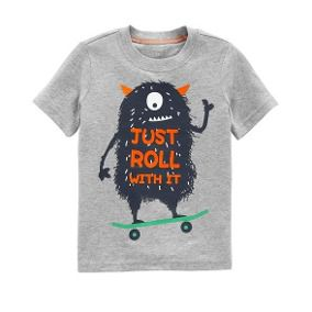 Camiseta Just Roll With It Carter's