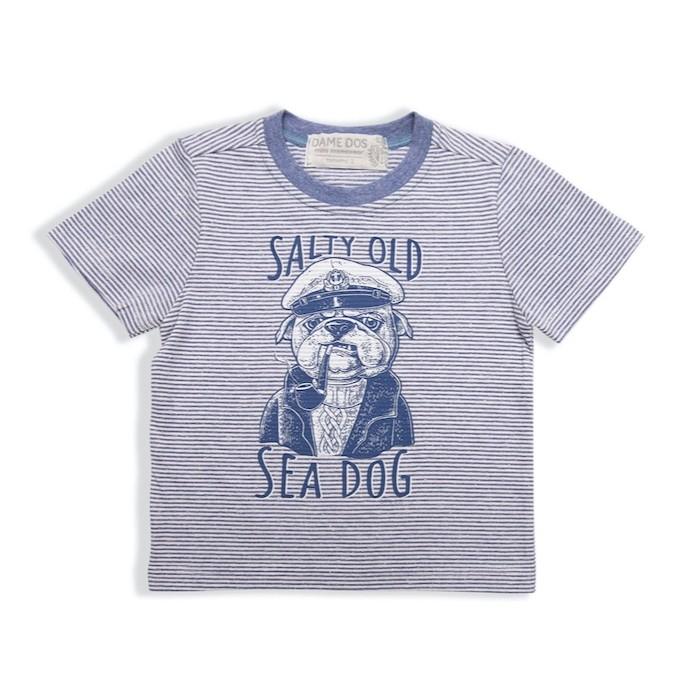Camiseta Listrada Daily Sea Dog Dame Dos