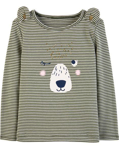Camiseta Listrada Urso Carter's