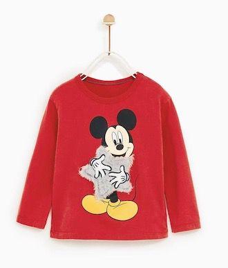 Camiseta Mickey Disney Estrela de Pelúcia Zara