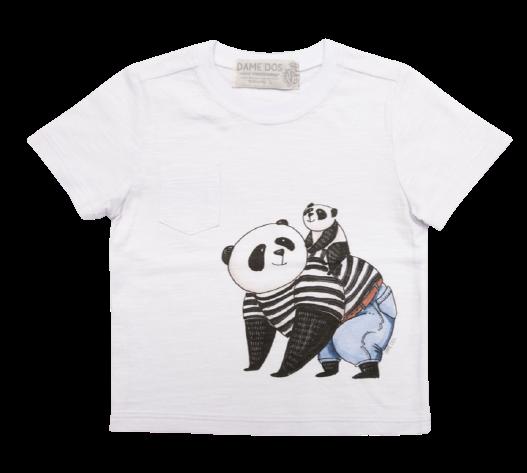 Camiseta Panda com Bolso Dame Dos