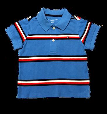 Camiseta Polo Listrada Azul Tommy Hilfiger