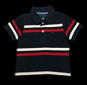 Camiseta Polo Listrada Tommy Hilfiger